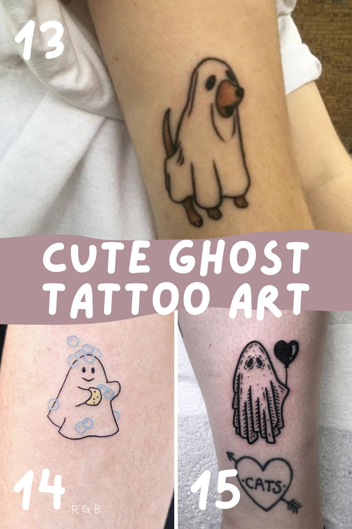 Cute Ghost Tattoo Art