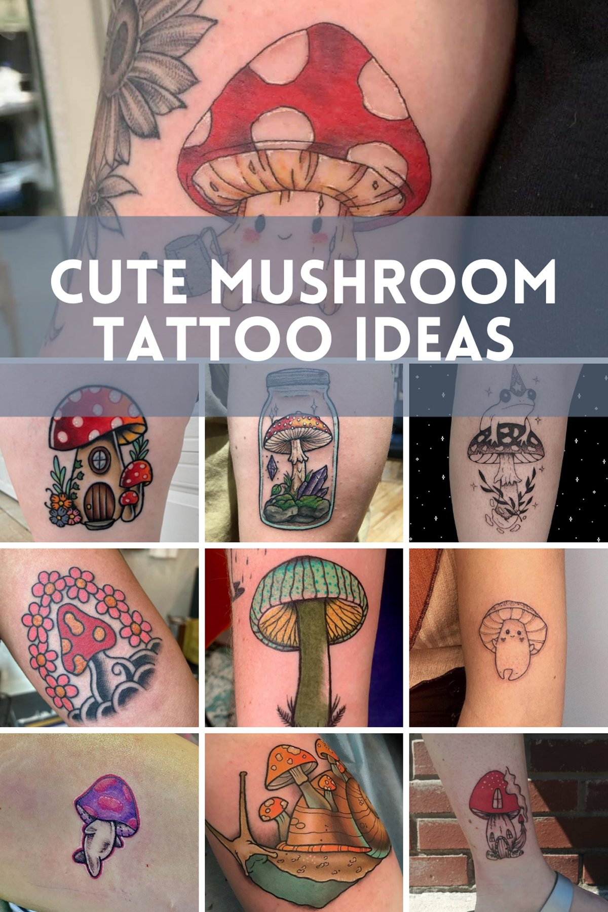 Cute Mushroom Tattoo Inspiration Photos