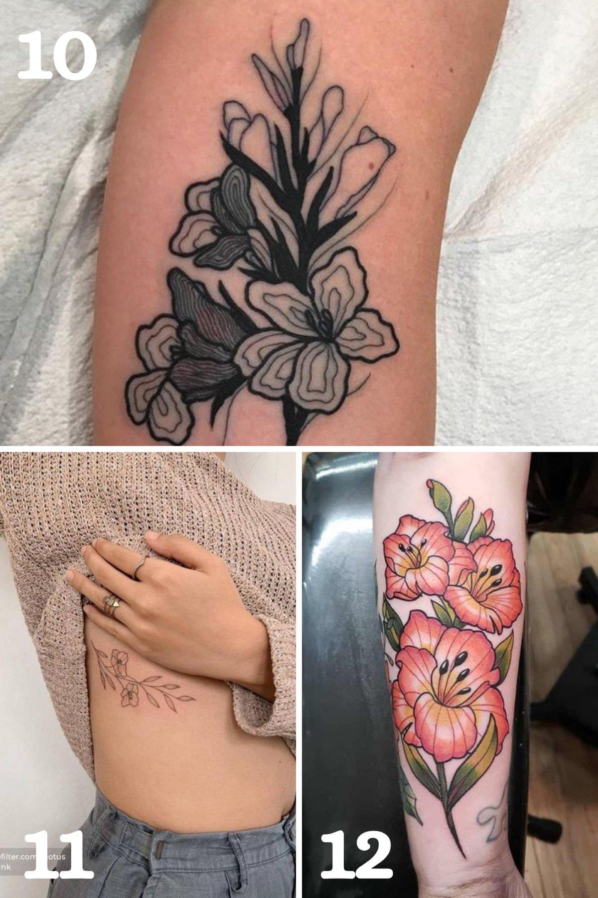 Gladiolus Tattoo Small
