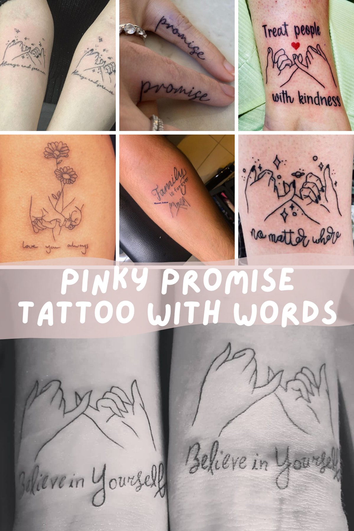 Pinky Promise Tattoo with Words