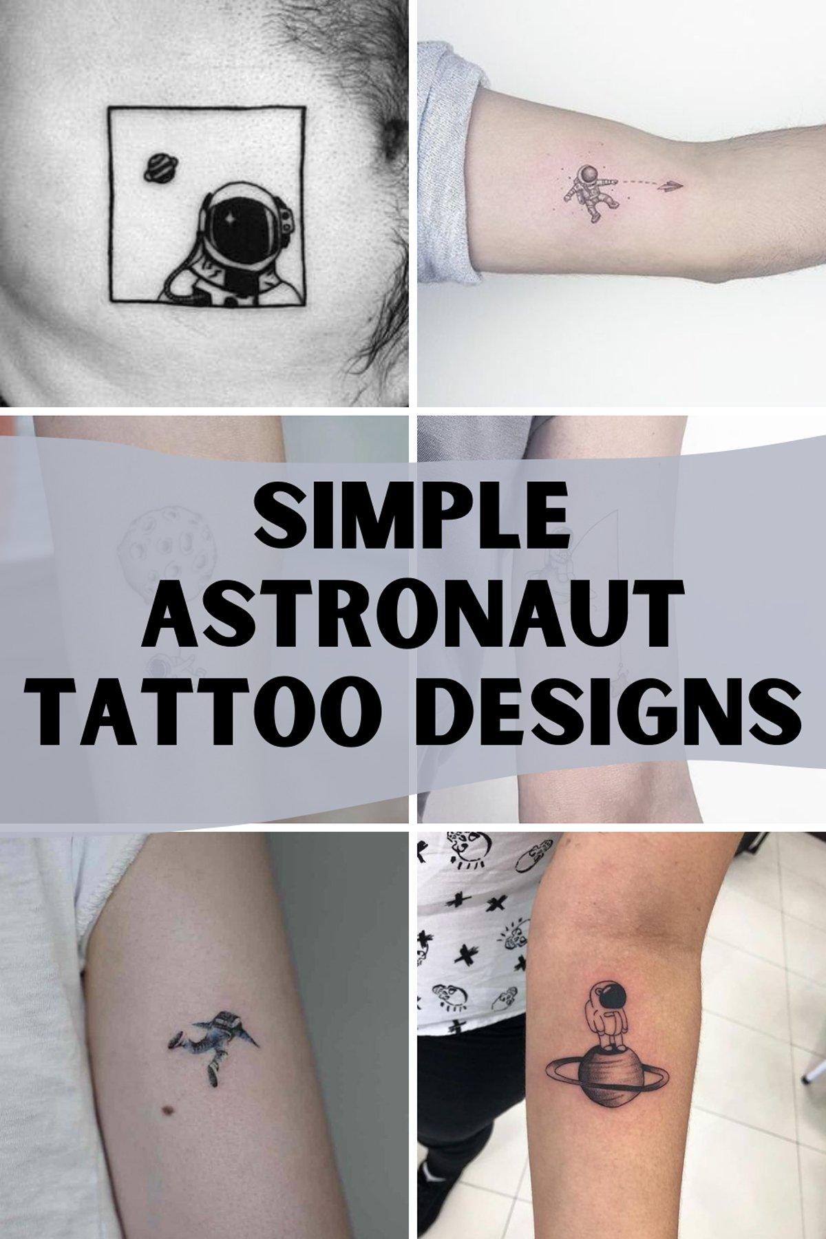 Simple Astronaut Tattoo