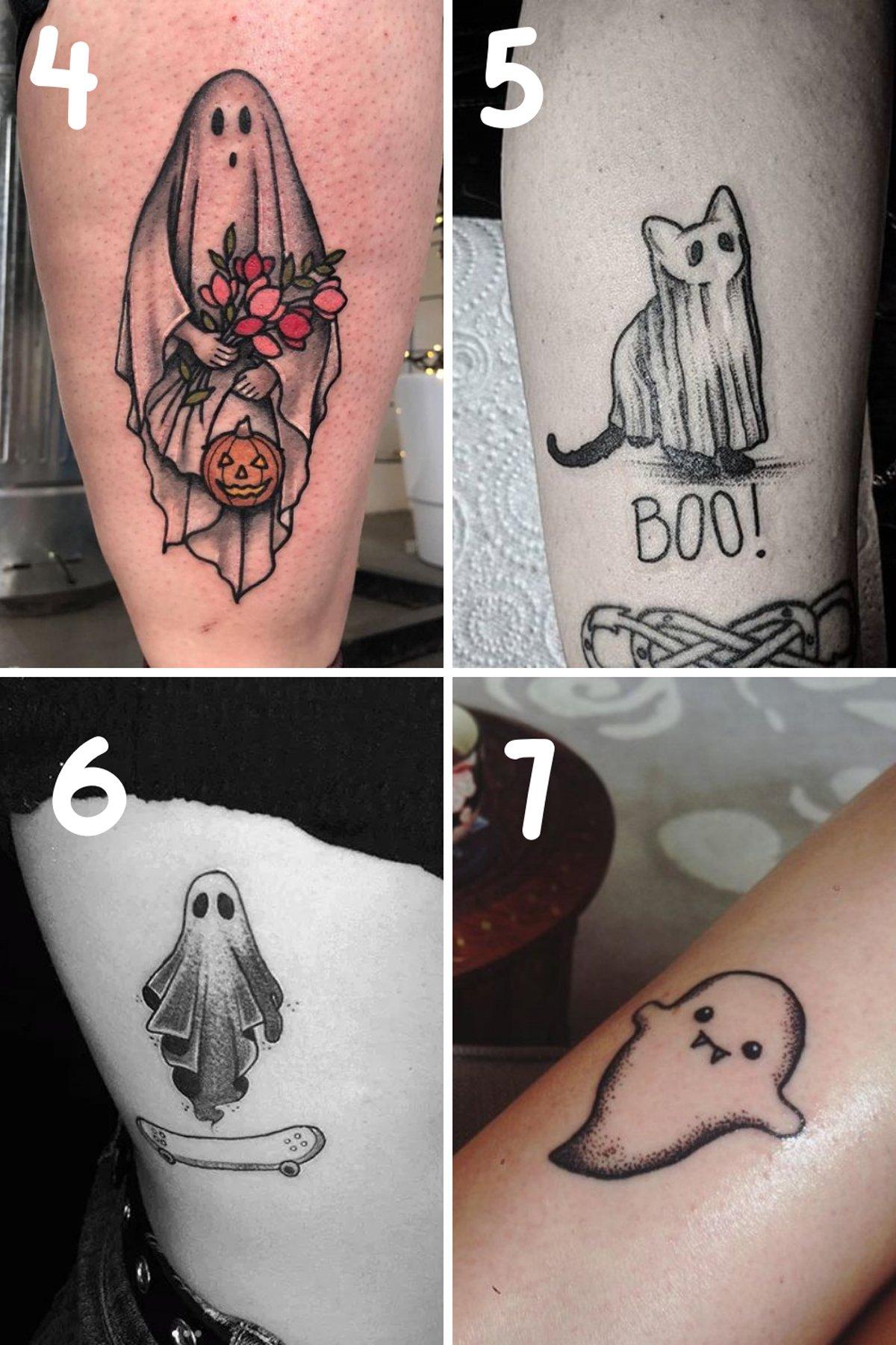 Simple Ghost Tattoo
