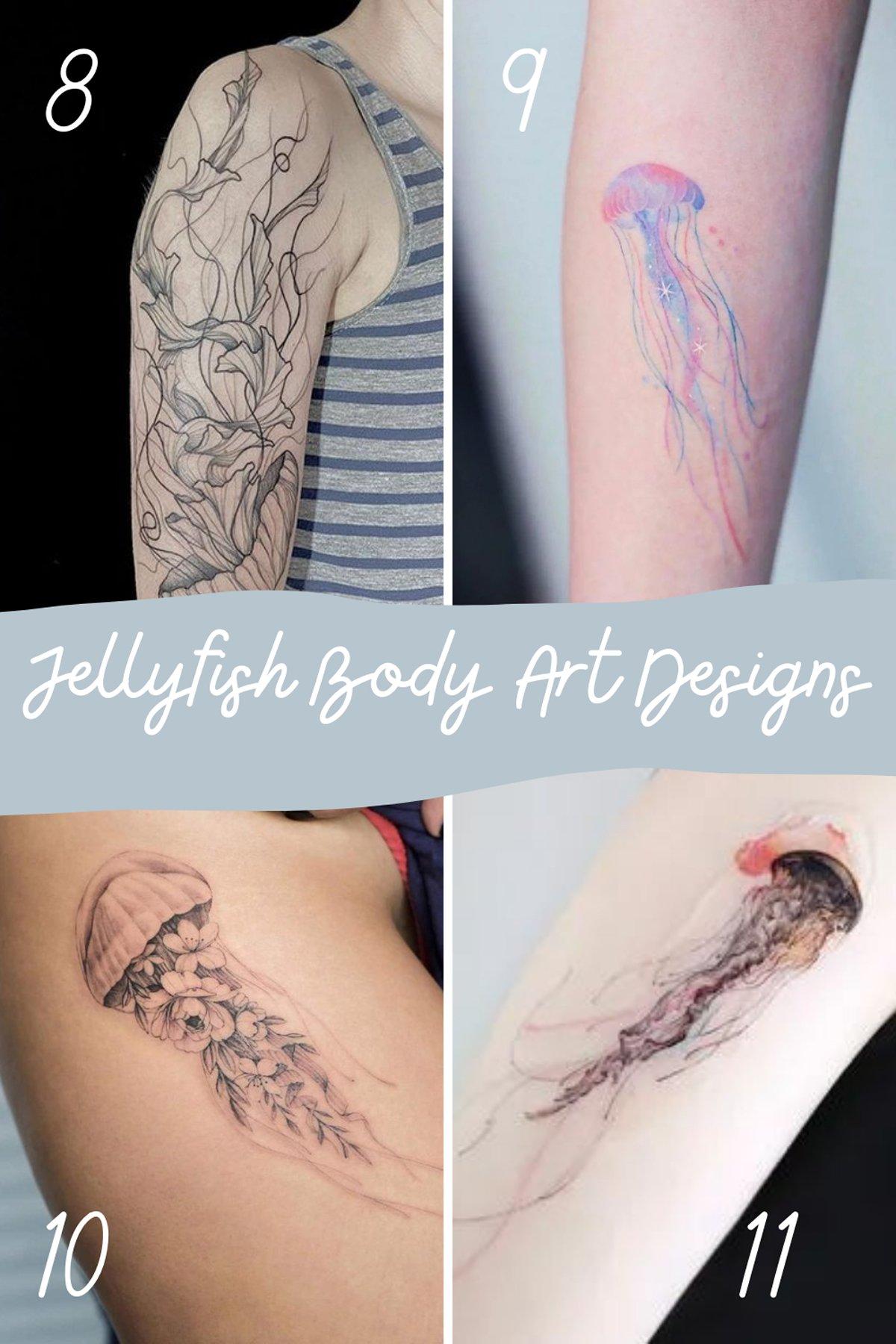 Simple Jellyfish Tattoo