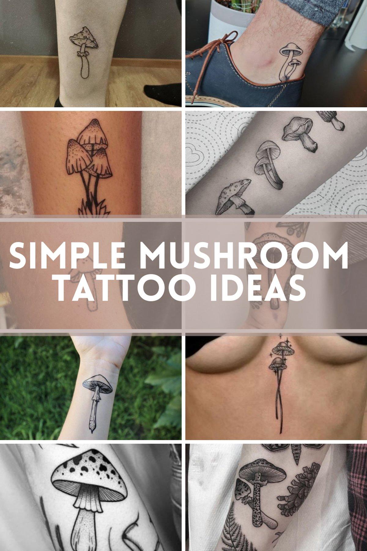 Simple Mushroom Tattoo Ideas