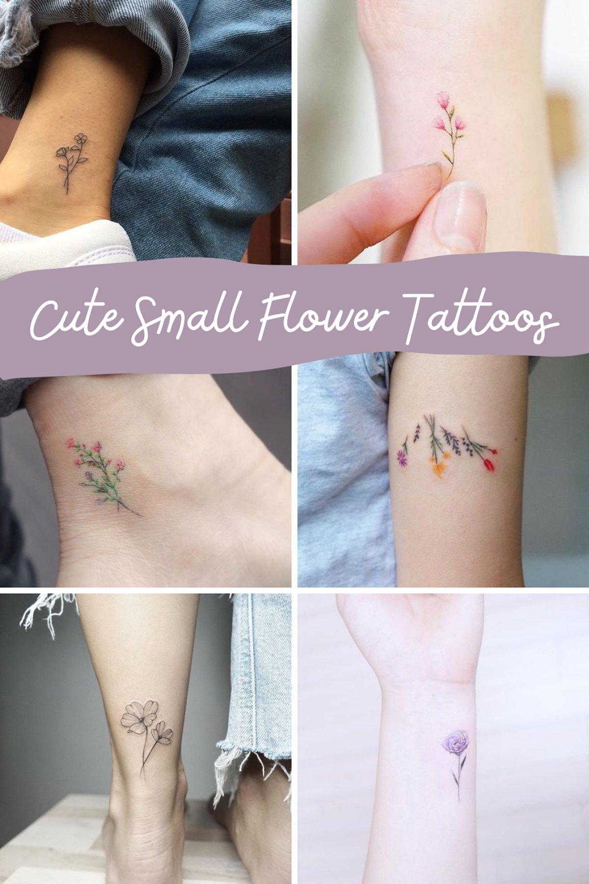 Cute Small Floral Tattoos