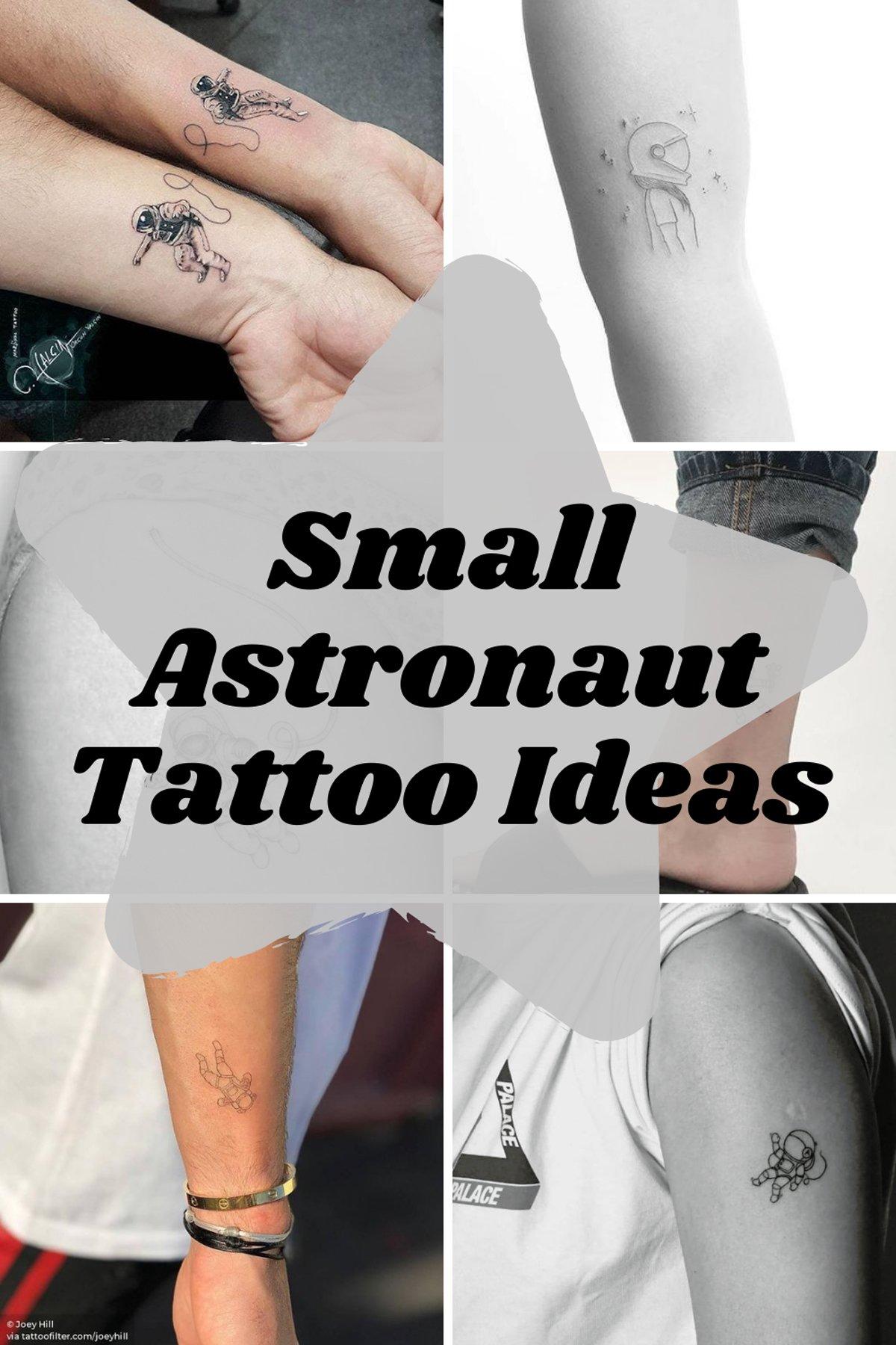 Small Astronaut Tattoo Ideas