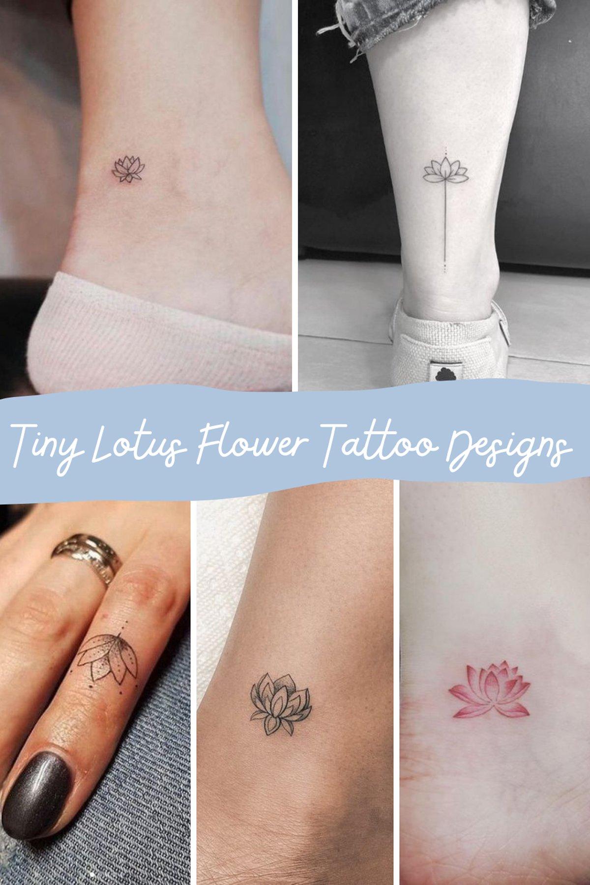 Tiny Pink Flower Tattoo
