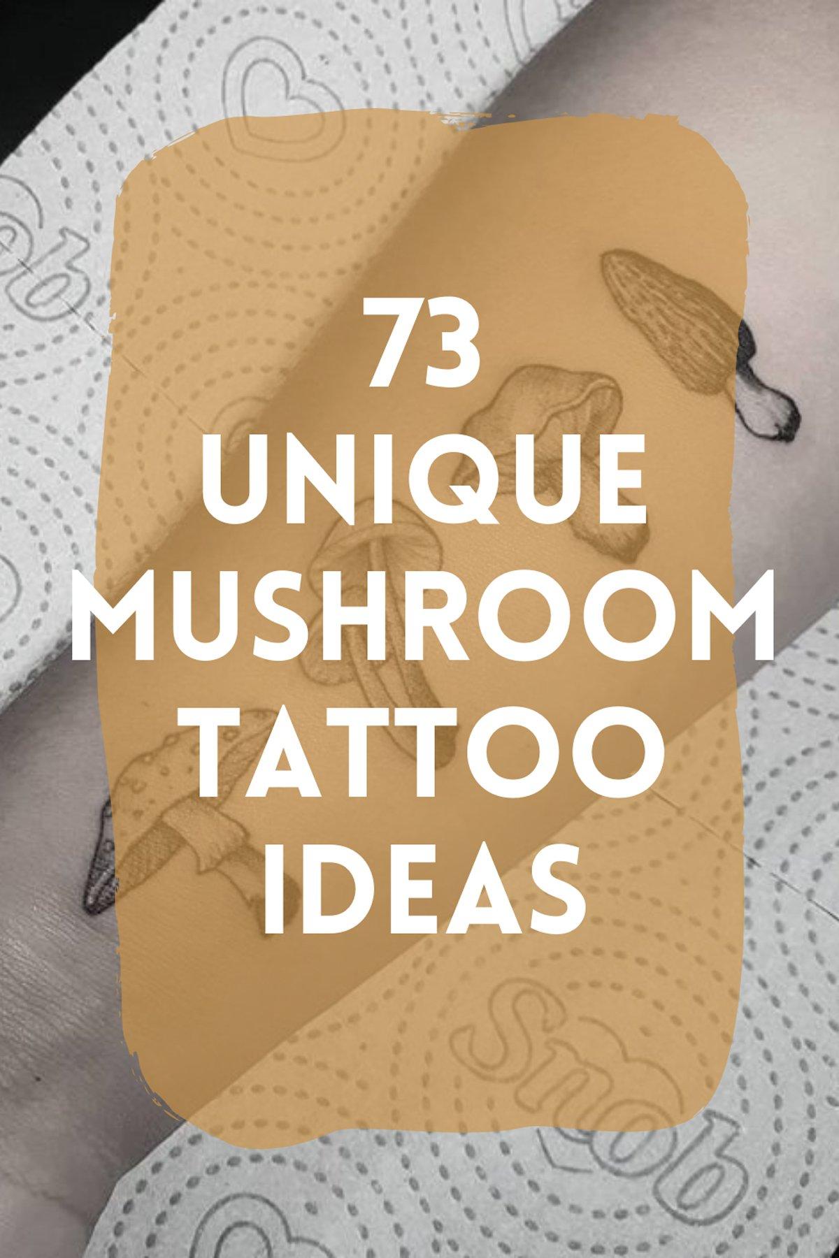 Unique Mushroom Tattoos