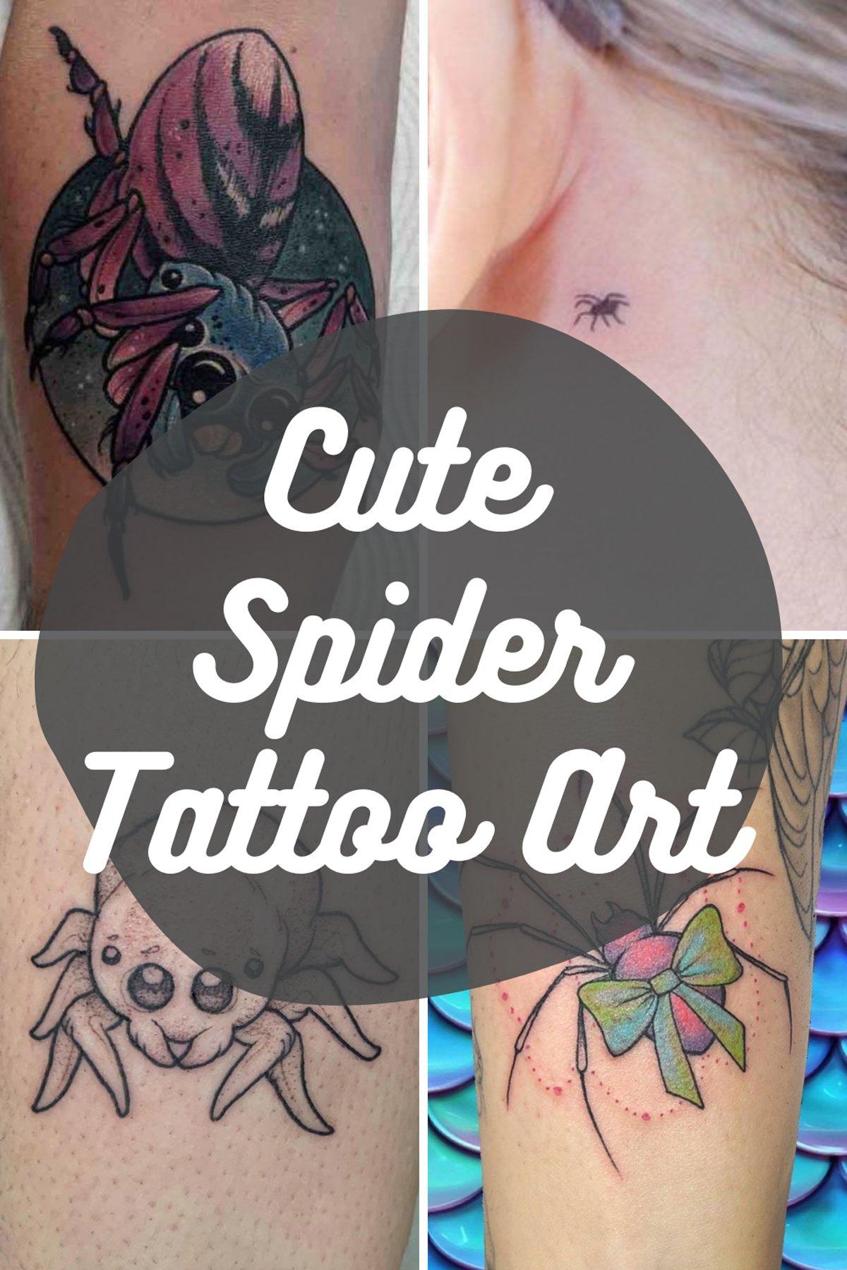 Cute Spider Tattoo