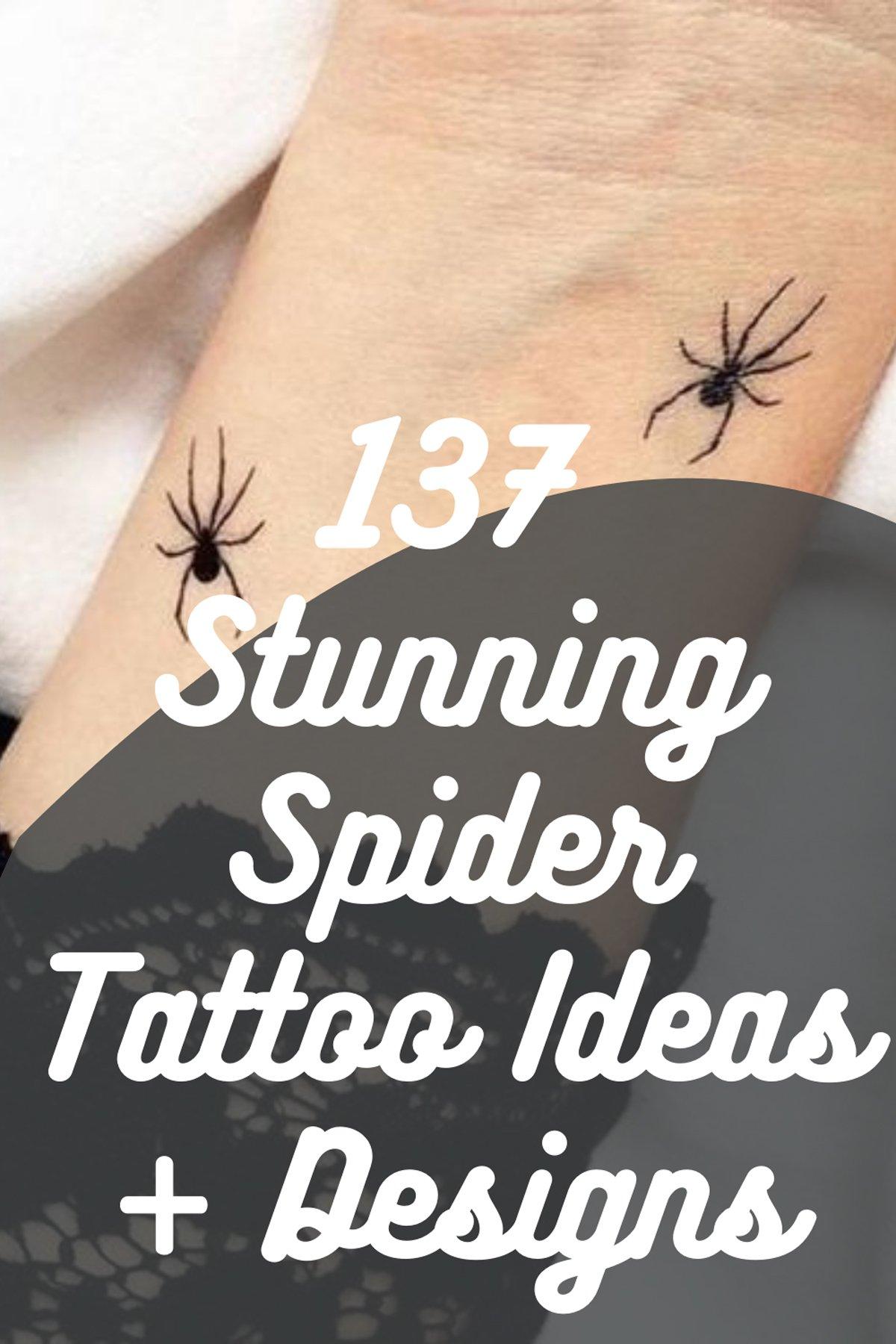 Gothic Spider tattoo designs